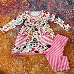 NWOT Millie Loves Lily dress & leggings - size 3